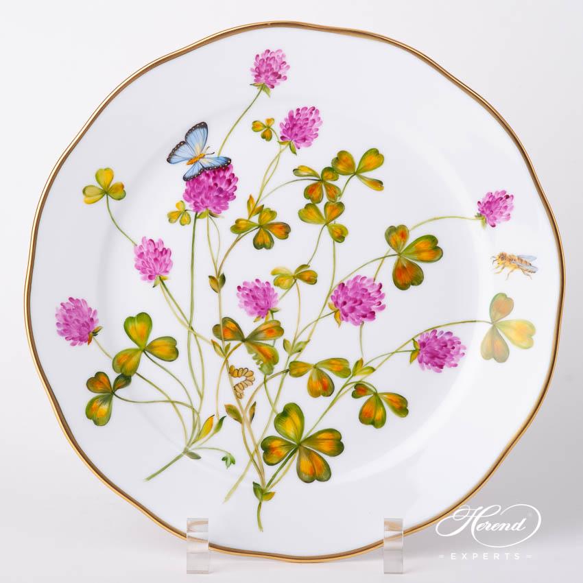 餐盘– 美国野花/ 红三叶草 – 赫伦细瓷